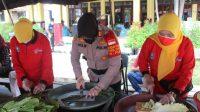 Bantu Warga Isoman, PNKT Salurkan Sembako ke Dapur Umum di Mapolres Tegal Kota